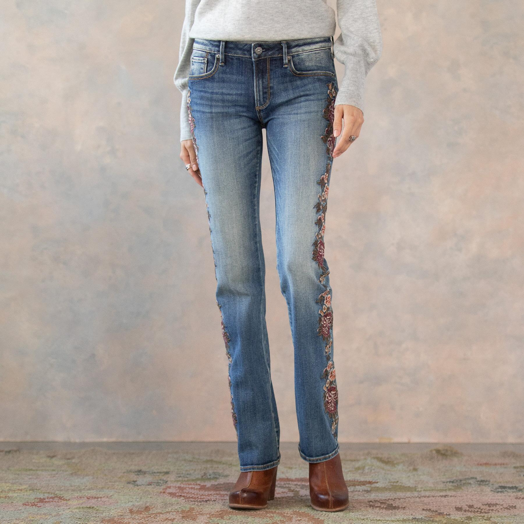 KELLY CASCADING ROSES JEANS: View 2