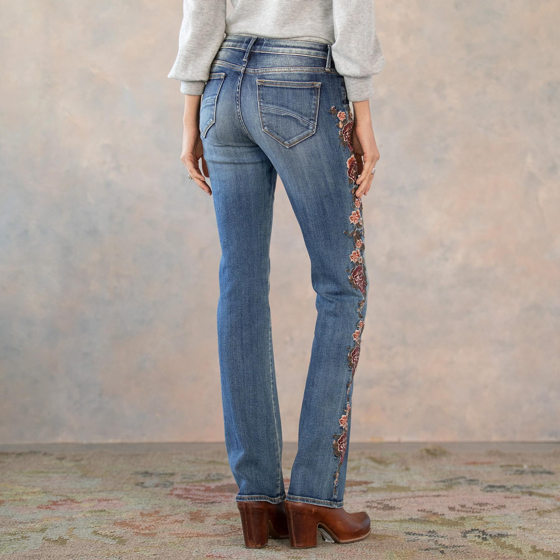 KELLY CASCADING ROSES JEANS: View 3