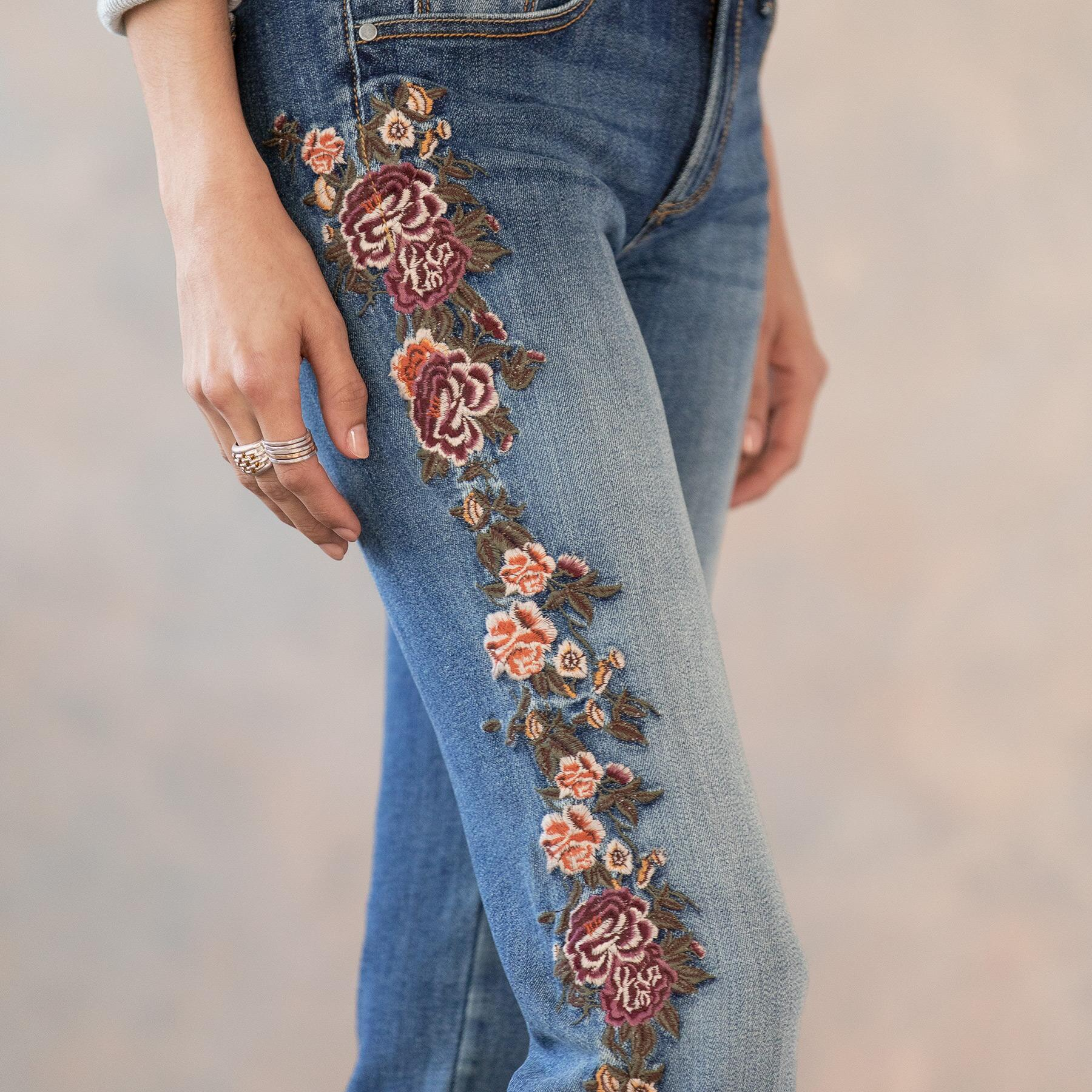 KELLY CASCADING ROSES JEANS: View 4