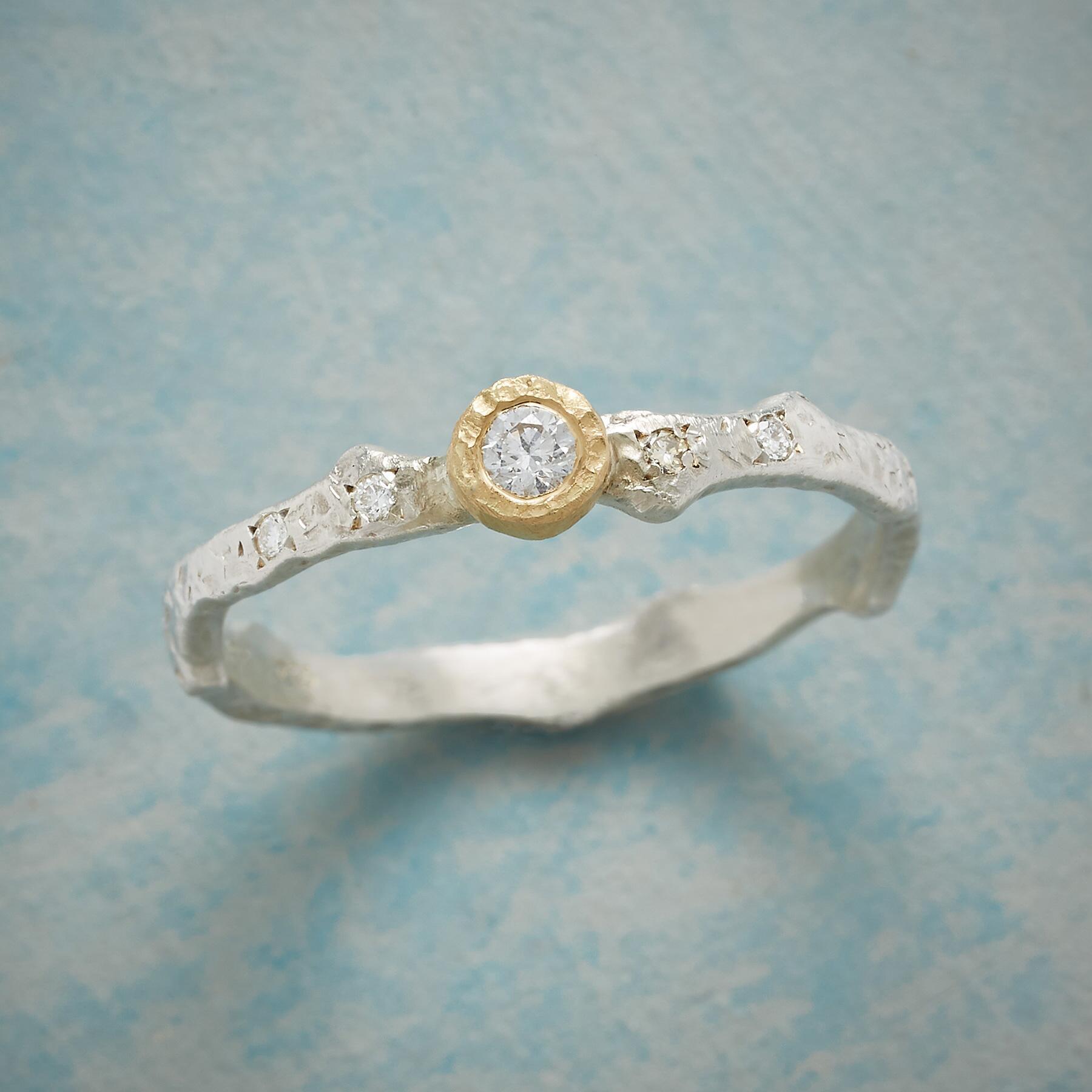 ON THE VINE DIAMOND RING: View 1