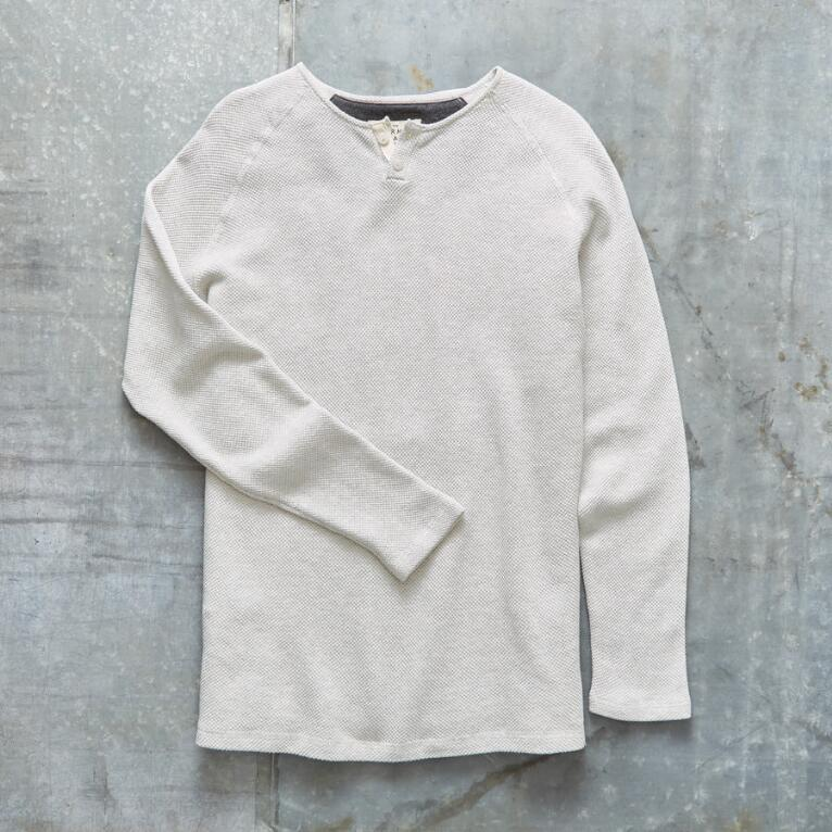 TONY TWO BUTTON HENLEY
