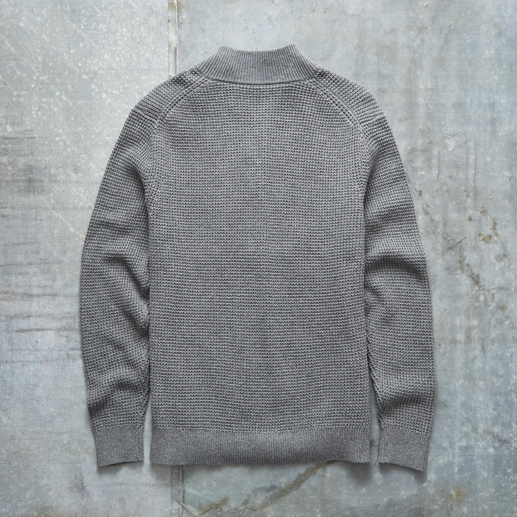 WAFFLE KNIT 1/4-ZIP PULLOVER: View 3