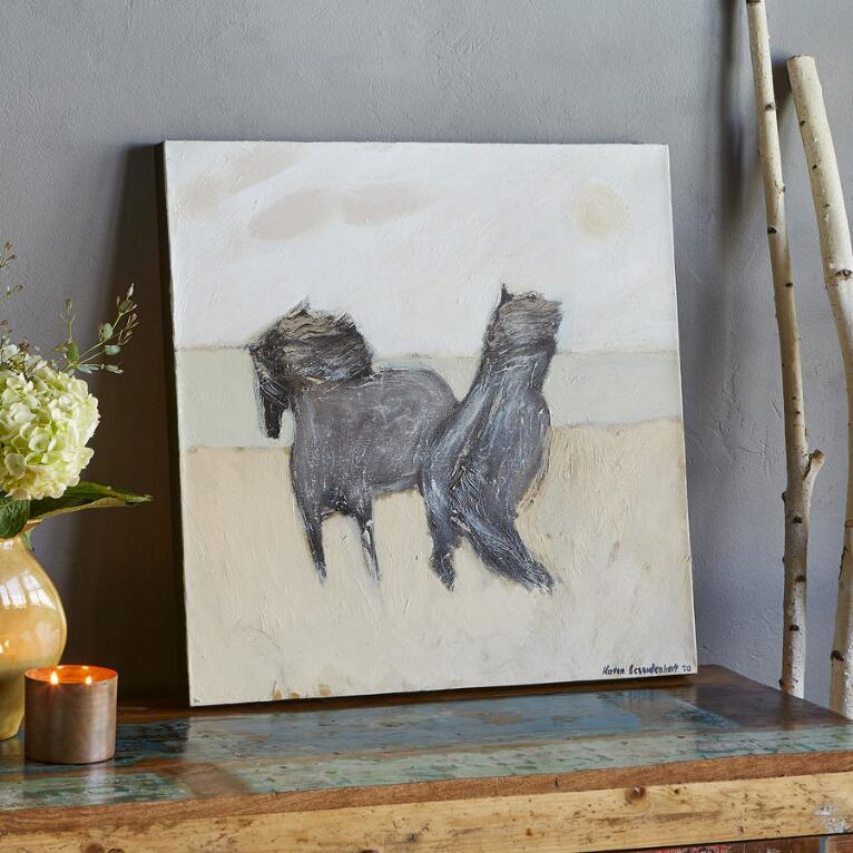 TWO PONIES PAINTING