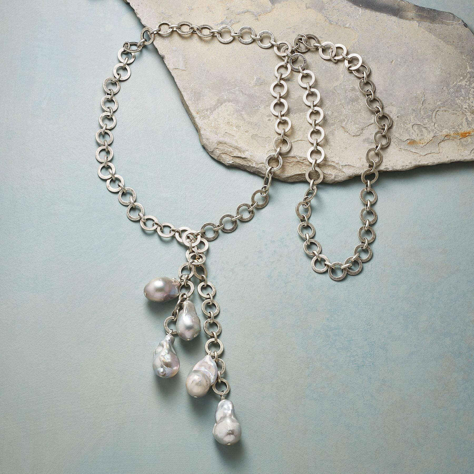JOHANNA PEARL LARIAT NECKLACE: View 2