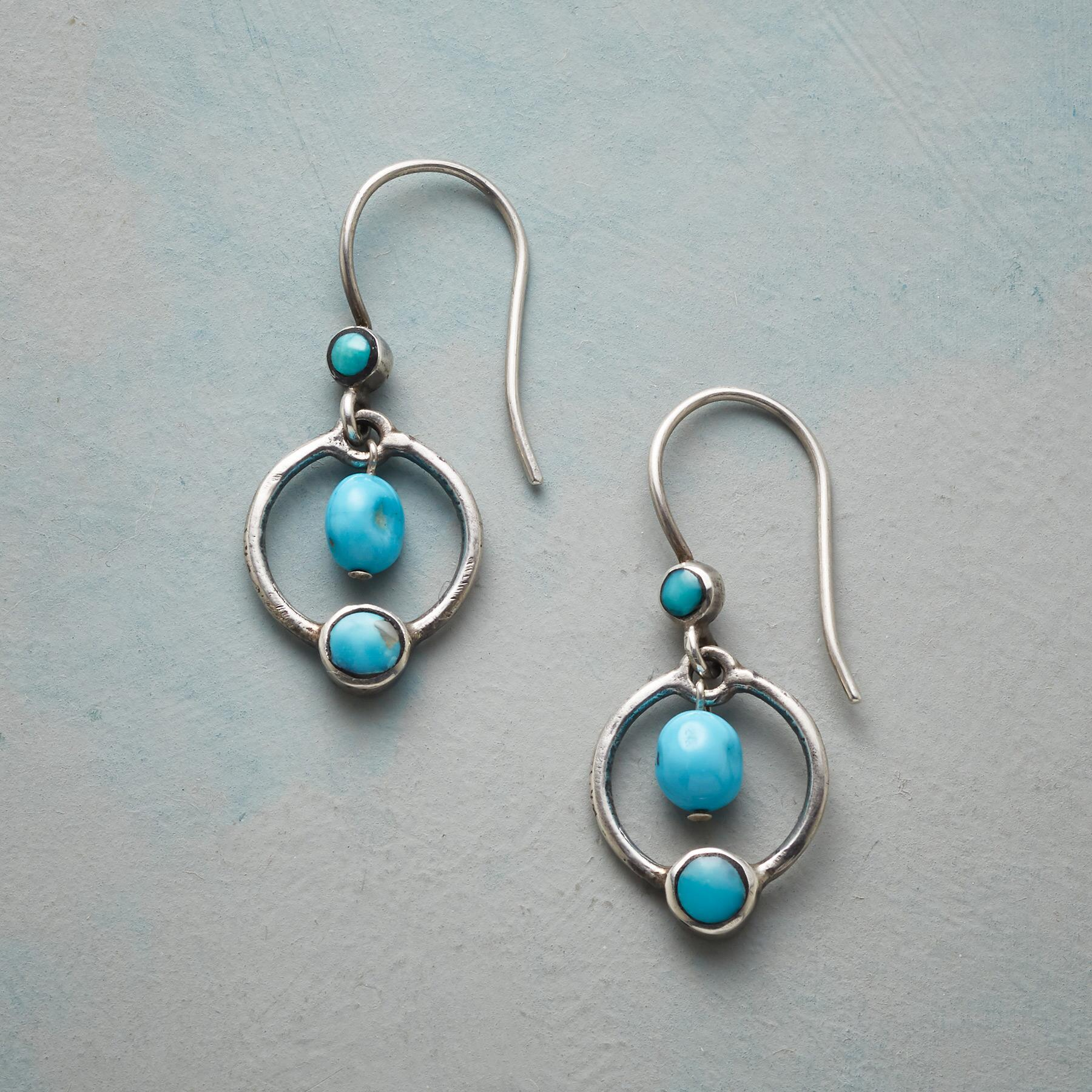 PLANETARY TURQUOISE EARRINGS: View 1
