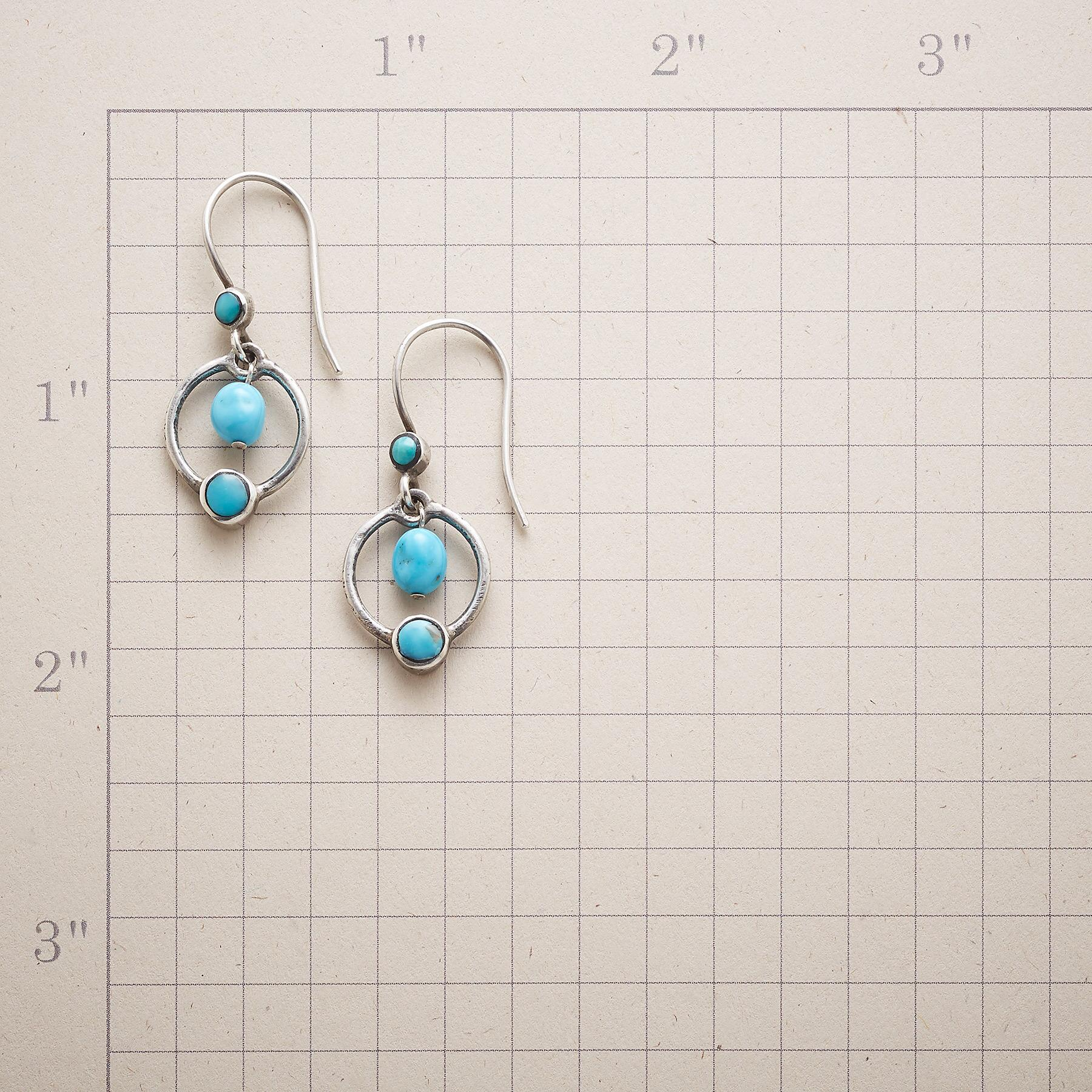 PLANETARY TURQUOISE EARRINGS: View 2