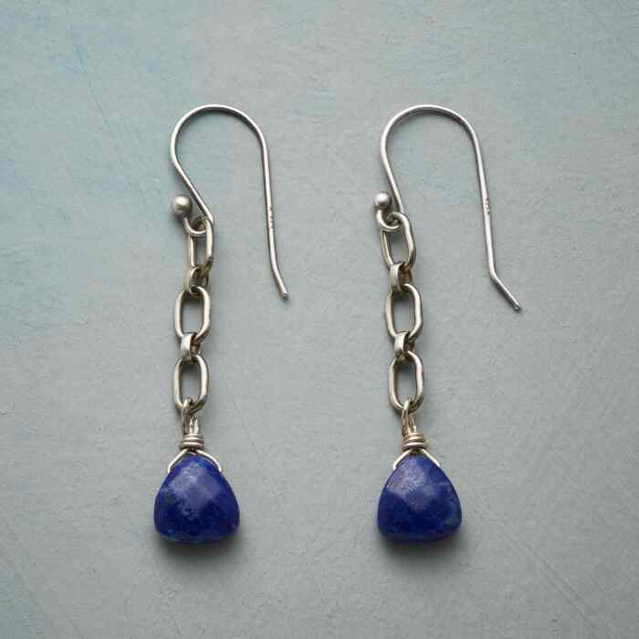 LINKED TO LAPIS EARRINGS