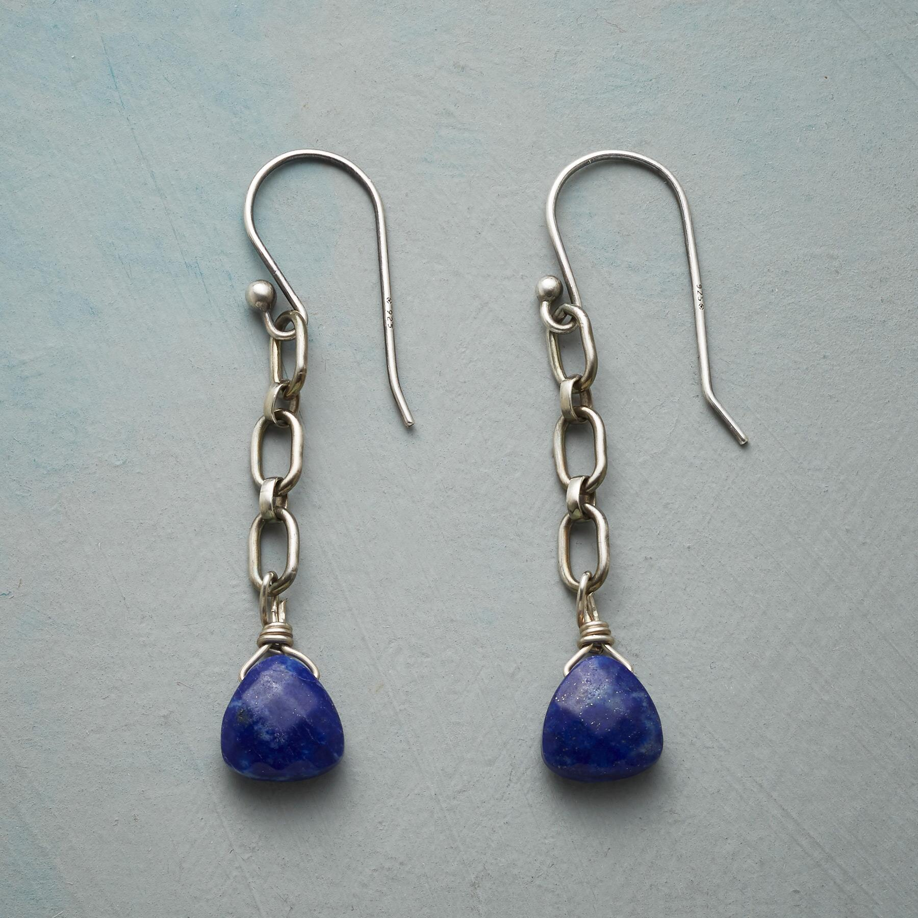 LINKED TO LAPIS EARRINGS: View 1