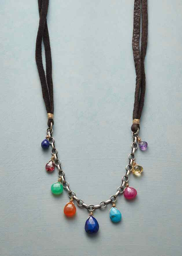 DRIP DROP GEMS NECKLACE