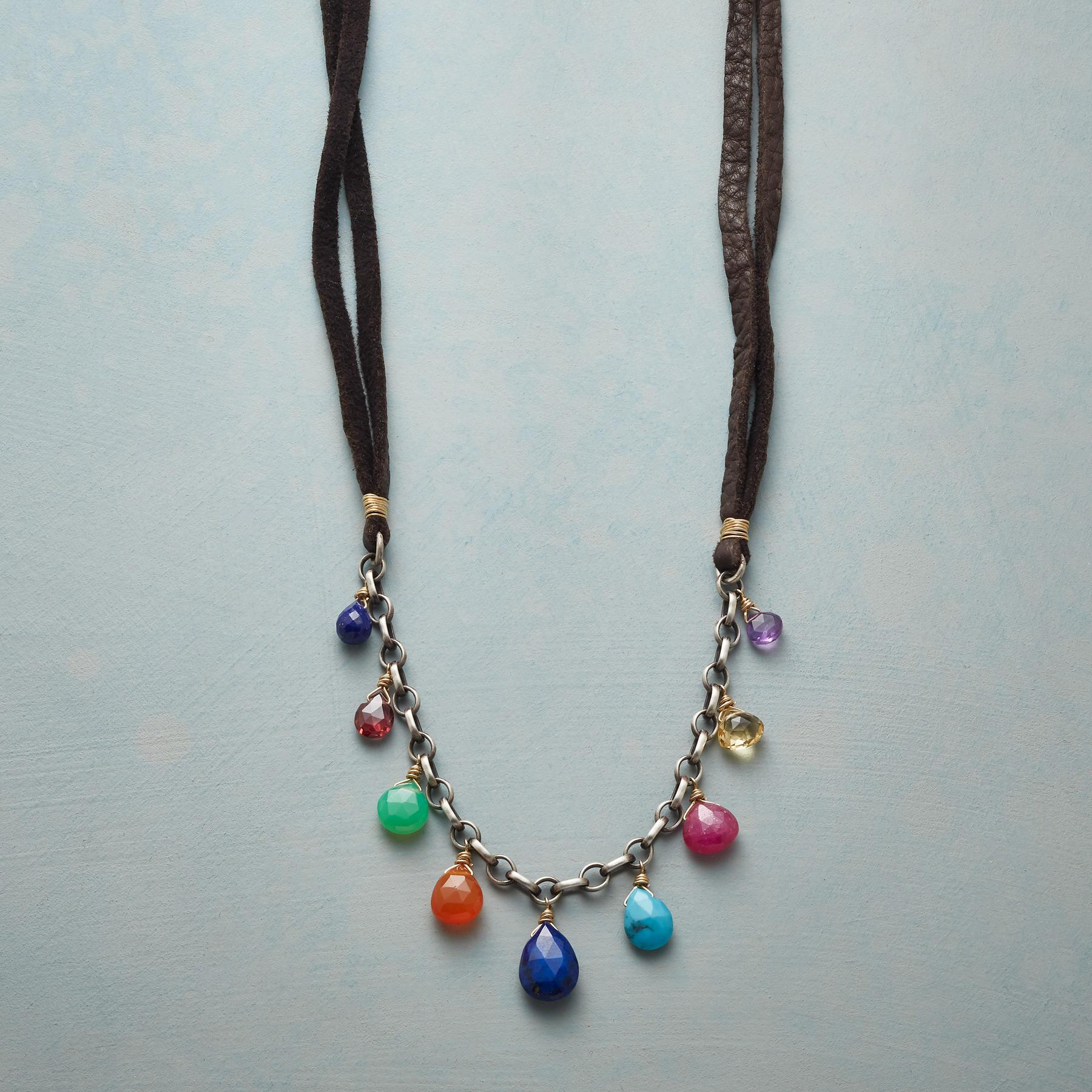 DRIP DROP GEMS NECKLACE: View 1