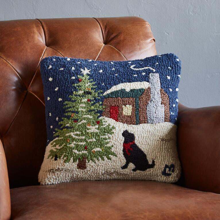 OUTDOOR TREES DOG DAYS PILLOW