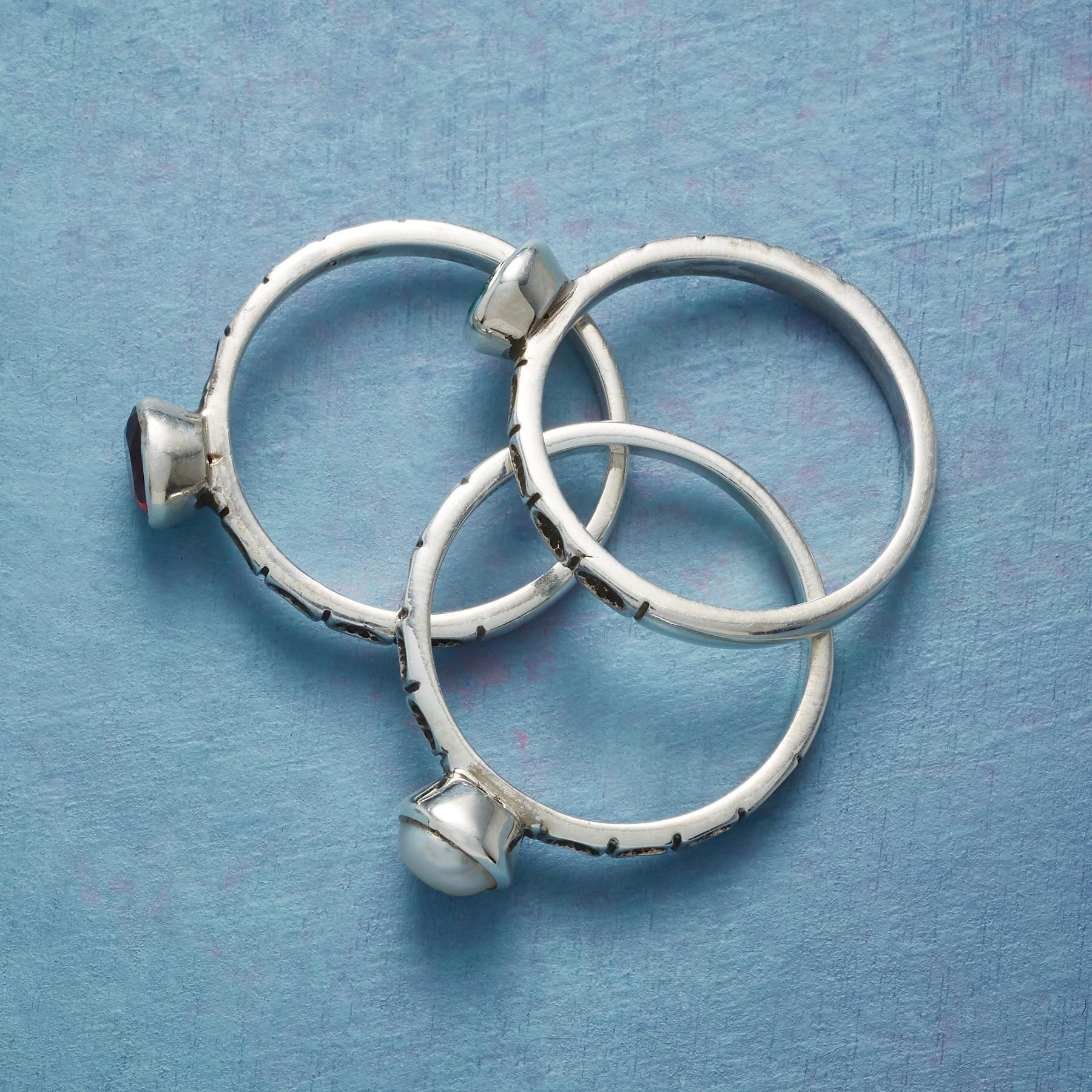 THREE PART HARMONY RINGS, SET OF 3: View 2