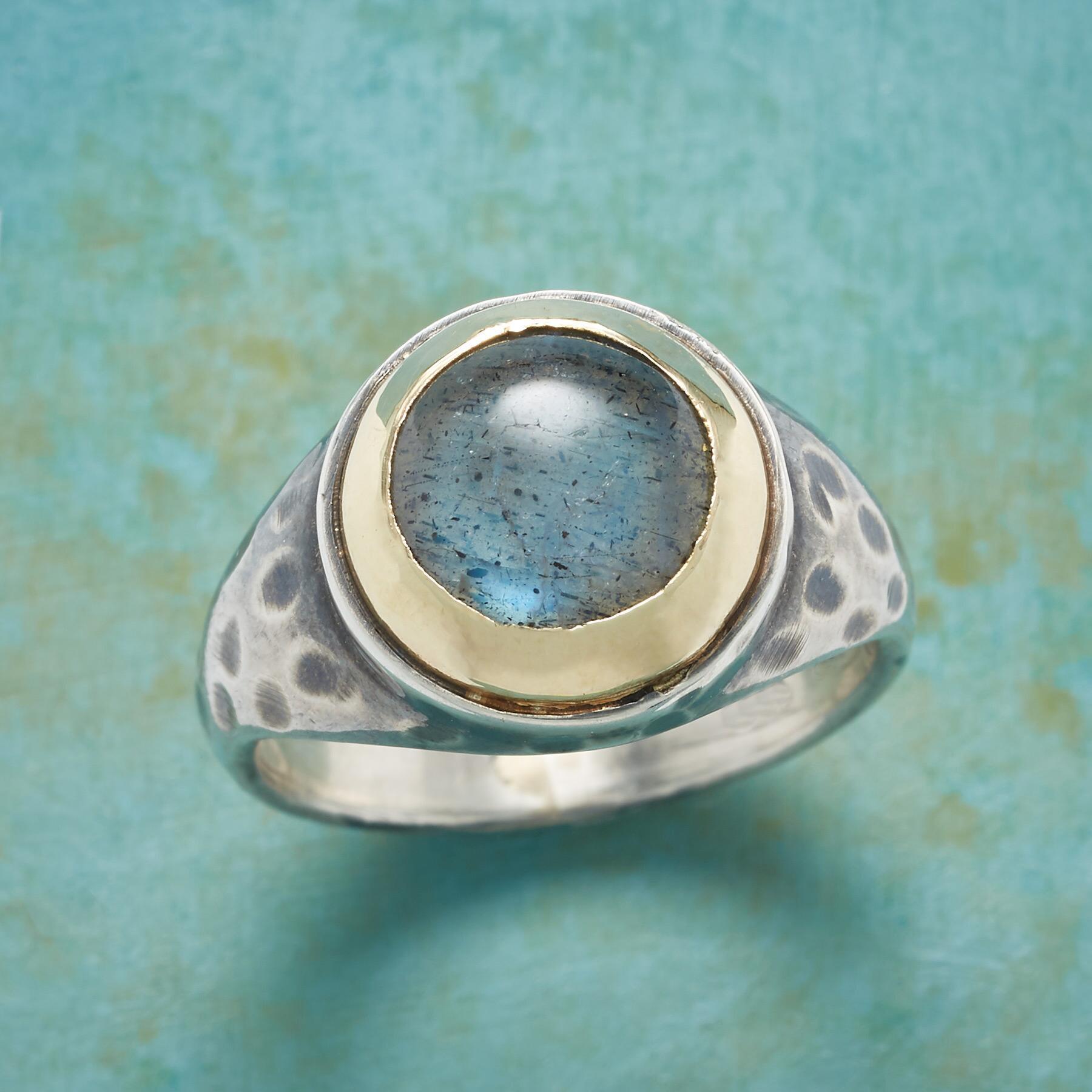 DELPHI LABRADORITE RING: View 1
