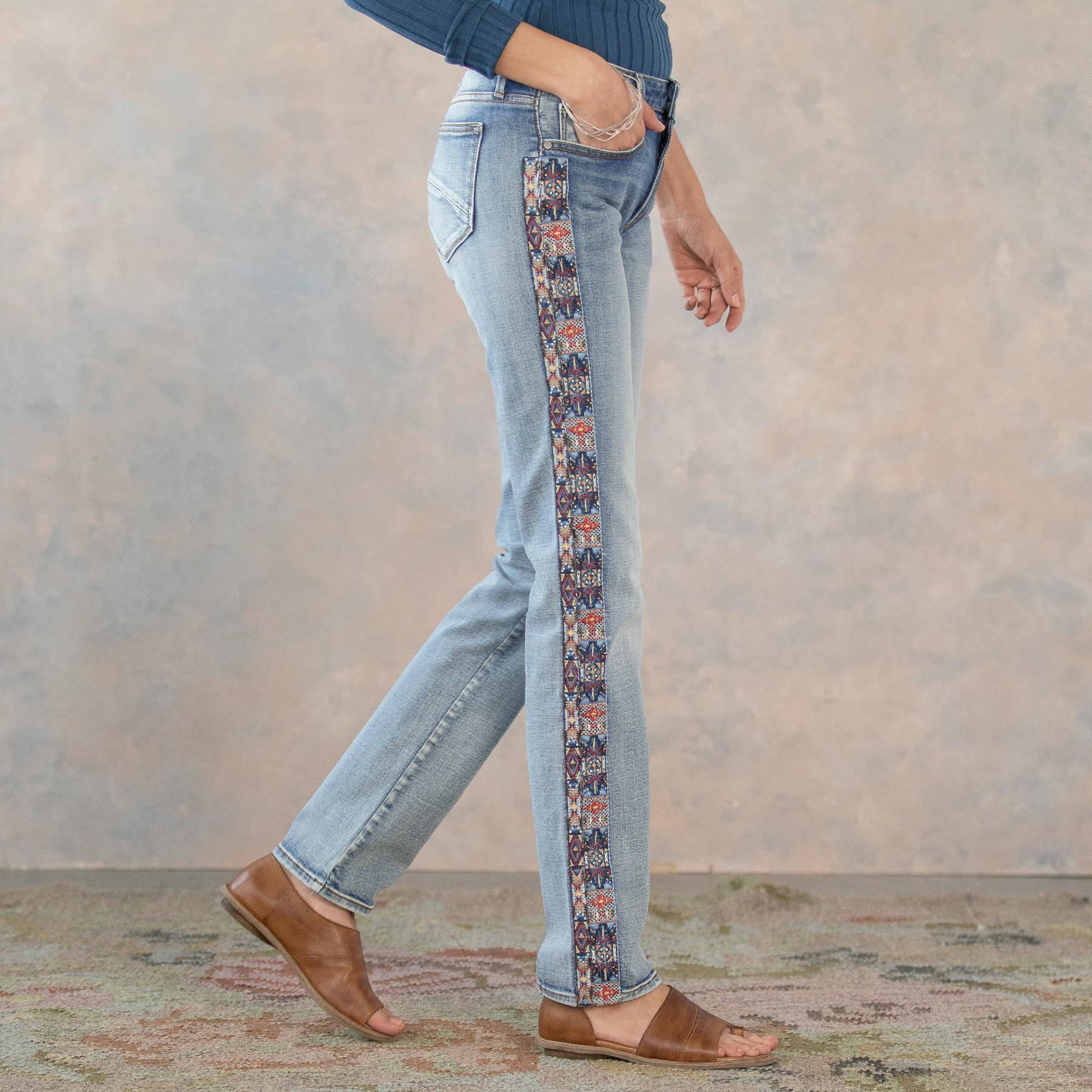 AUDREY CHANDLER STRAIGHT JEANS: View 1