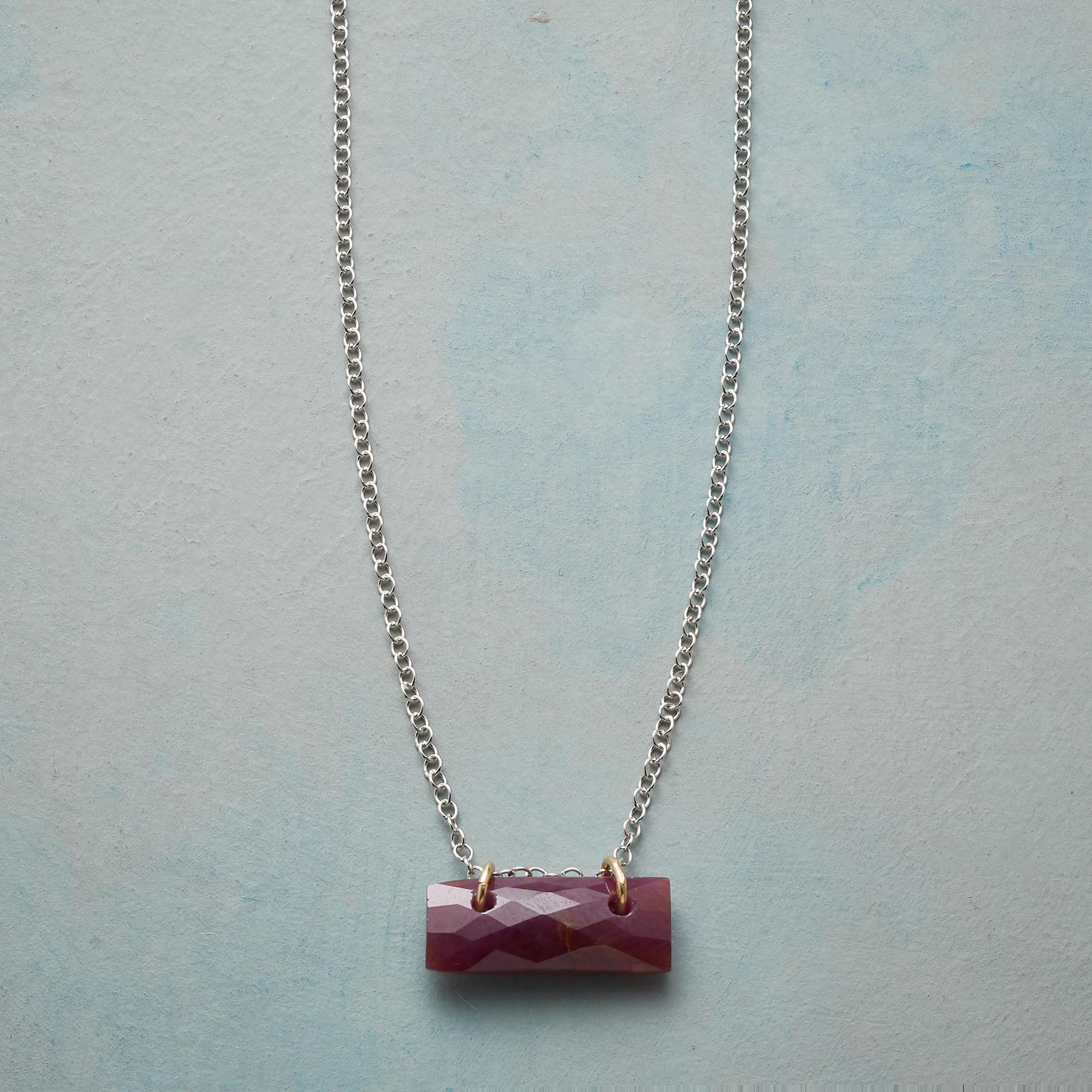 BIRTHSTONE TILE NECKLACE: View 1