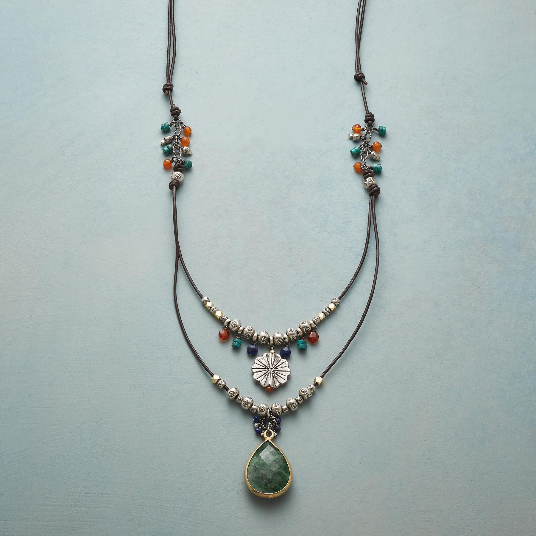 LONG LAYERED NECKLACE: View 1