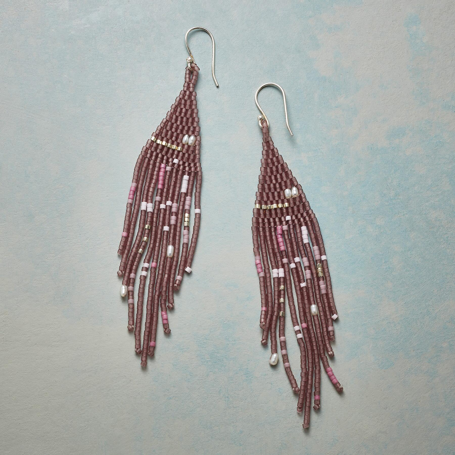 LILAC TIME EARRINGS: View 1