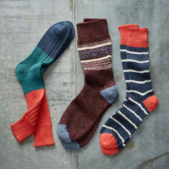 RUTLEDGE SOCKS, SET OF 3