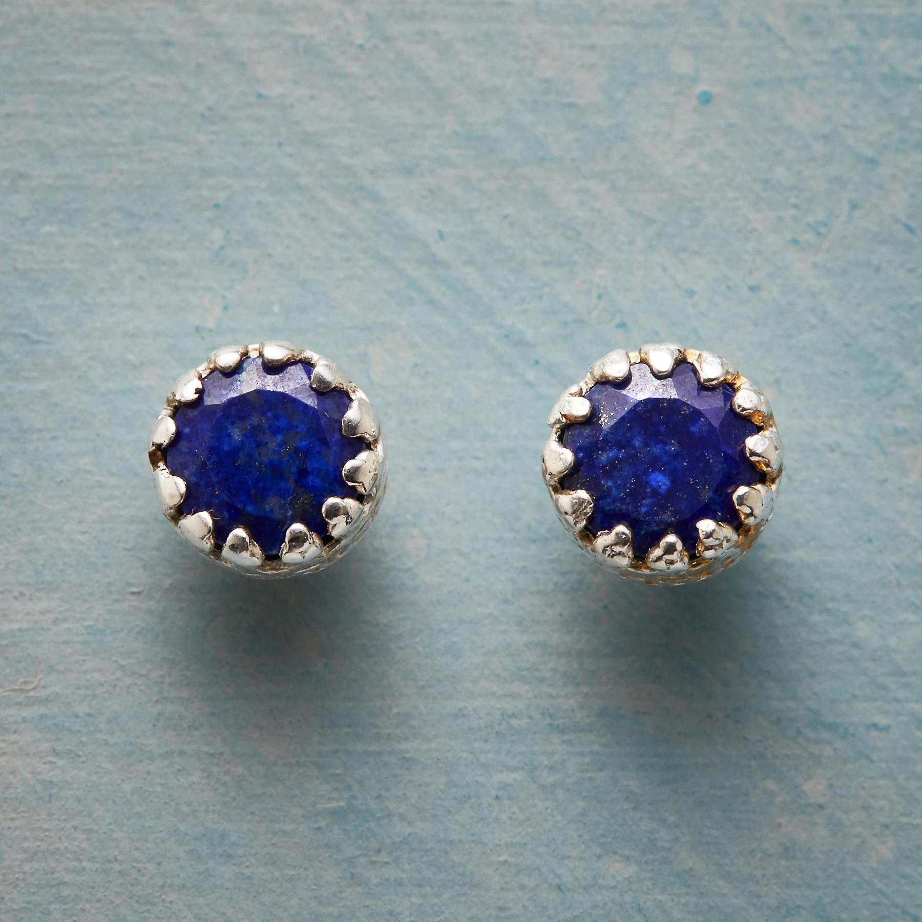 ENCIRCLED LAPIS EARRINGS: View 1