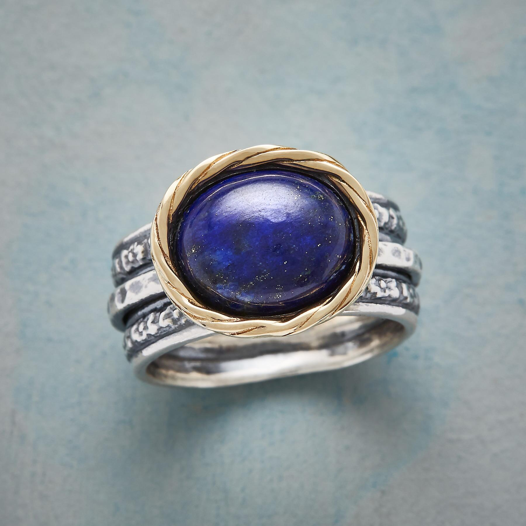 NESTED LAPIS RING: View 1