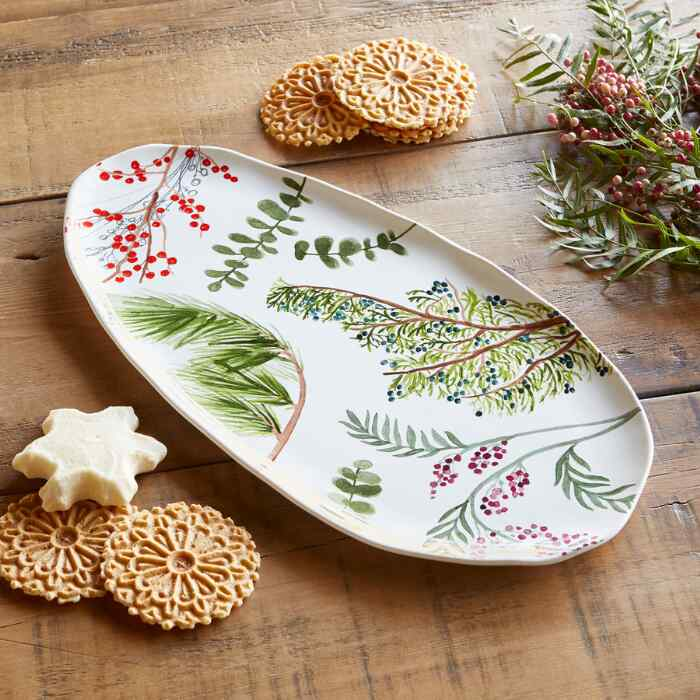 WINTERBERRY SERVING PLATTER