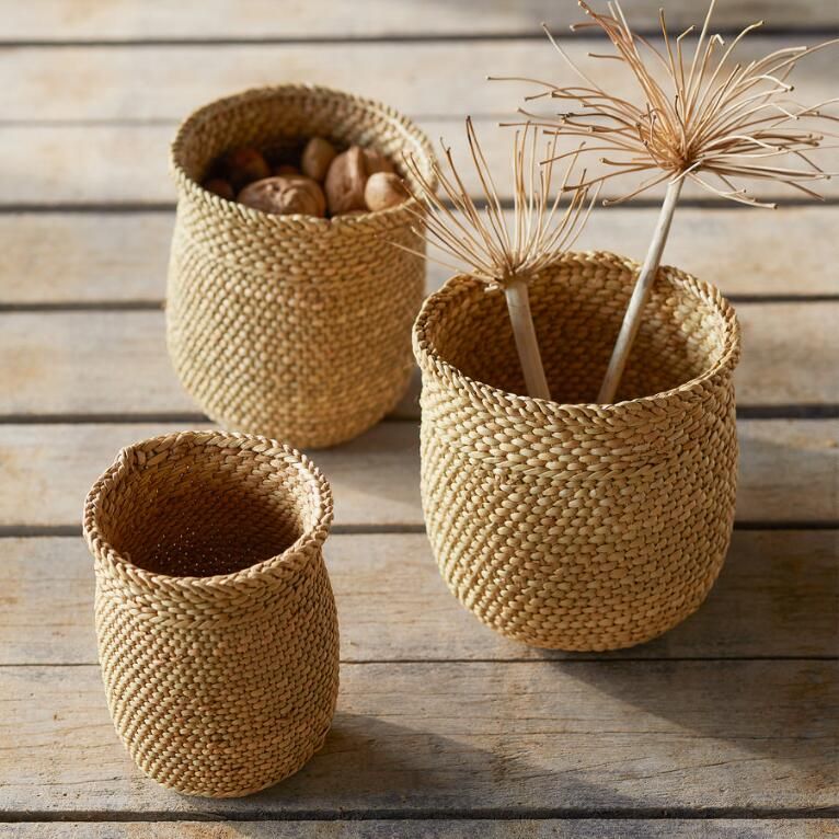 IRINGA MINI BASKETS, SET OF 3