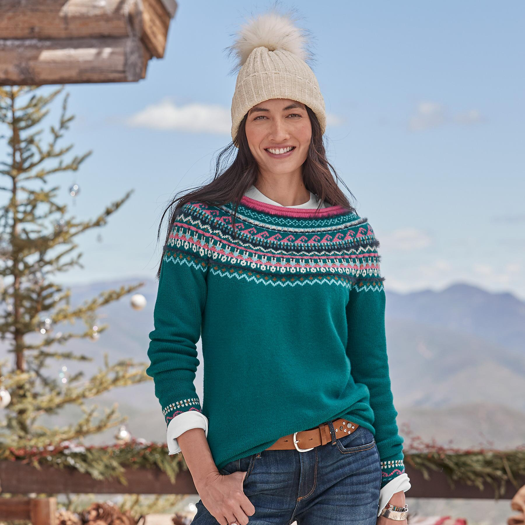 FAIR FABLE SWEATER - PETITES: View 1