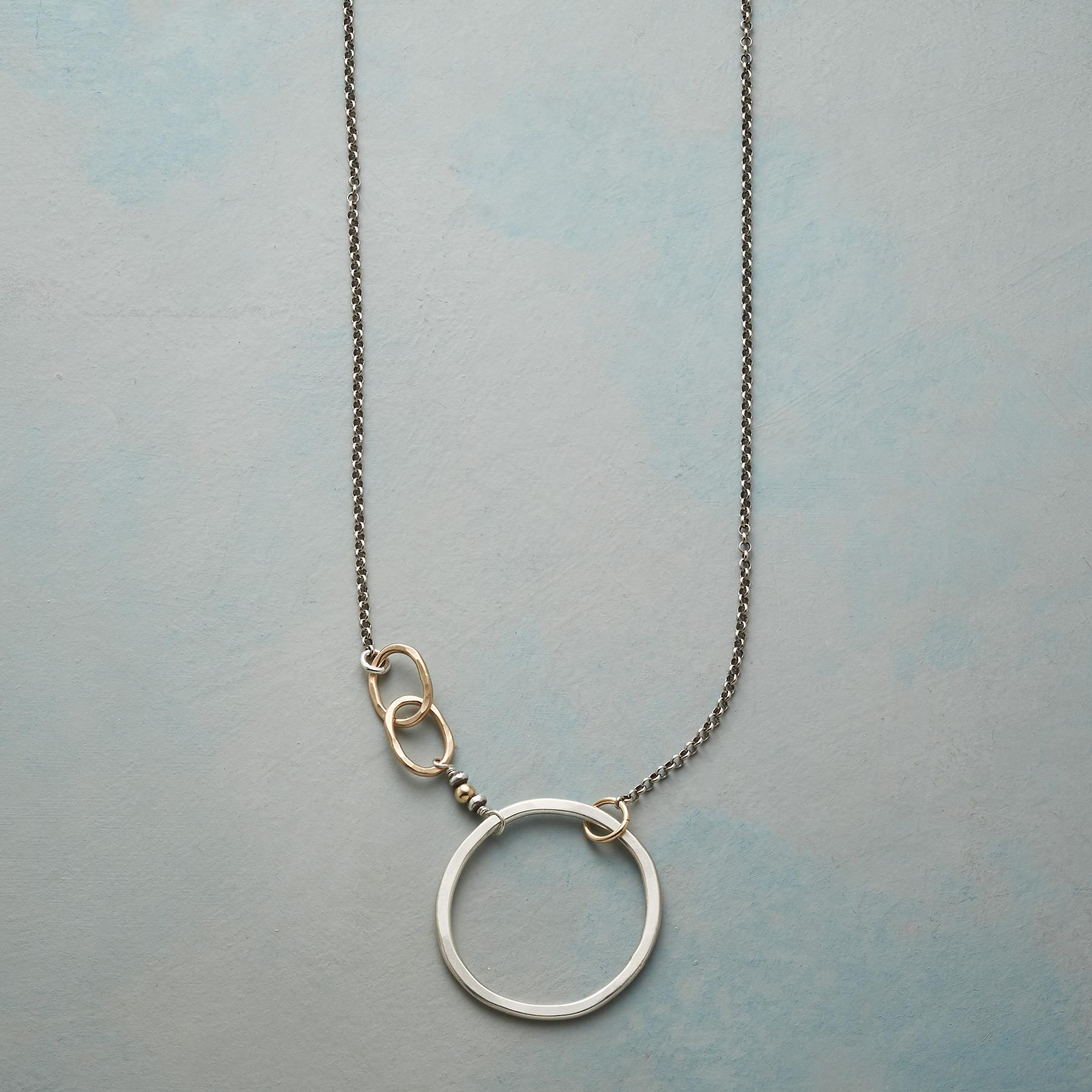 SILVER CIRCLE NECKLACE: View 1