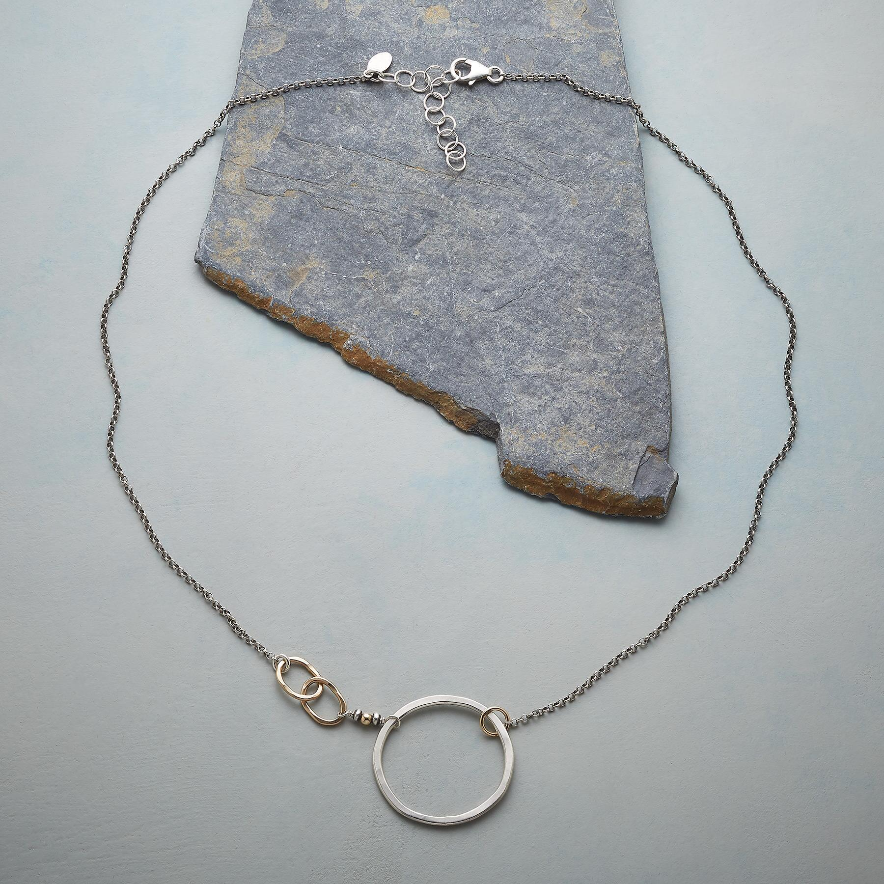 SILVER CIRCLE NECKLACE: View 2