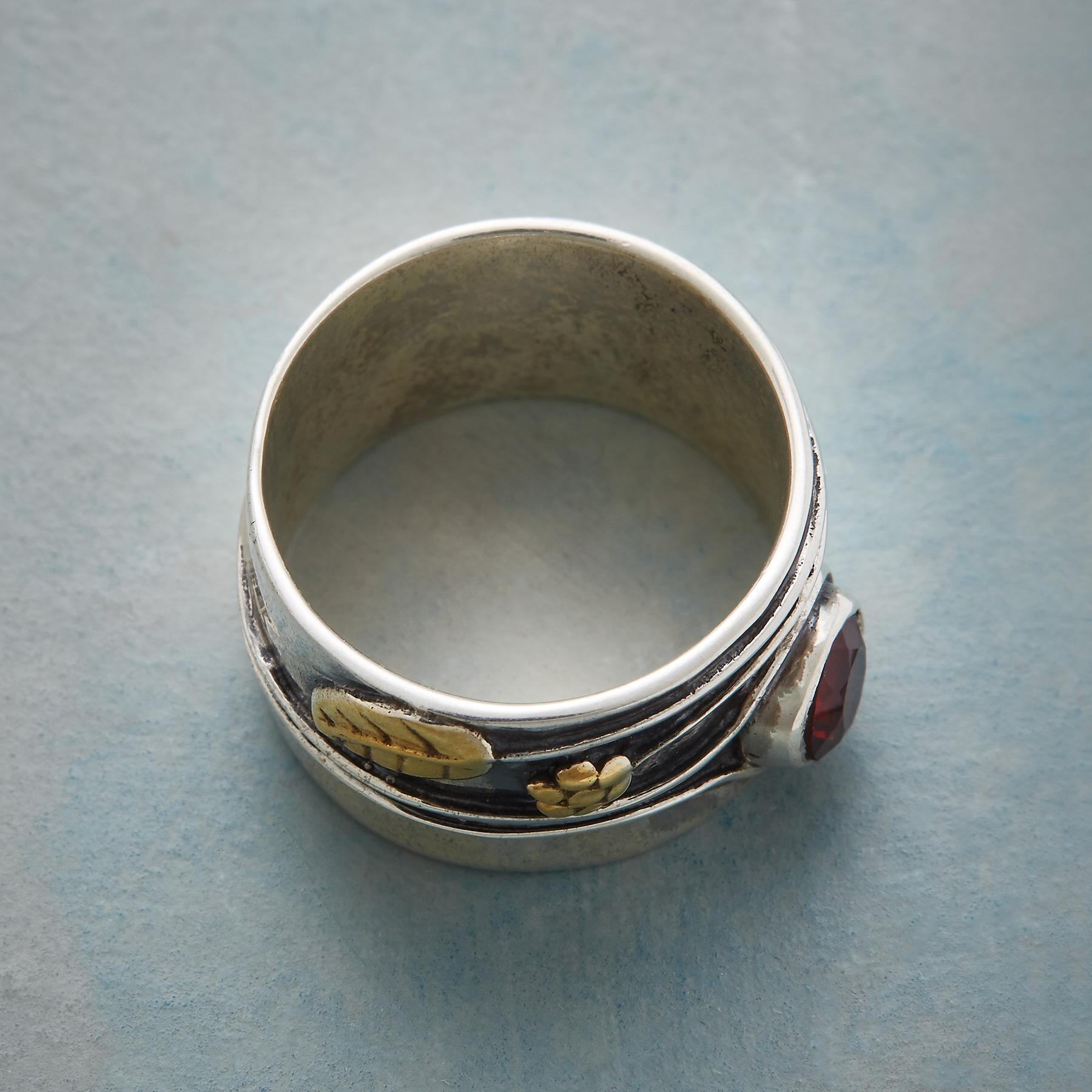 SWEETBRIER GARNET RING: View 2