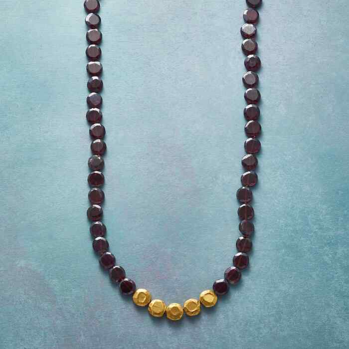ENWRAPPED GARNET NECKLACE