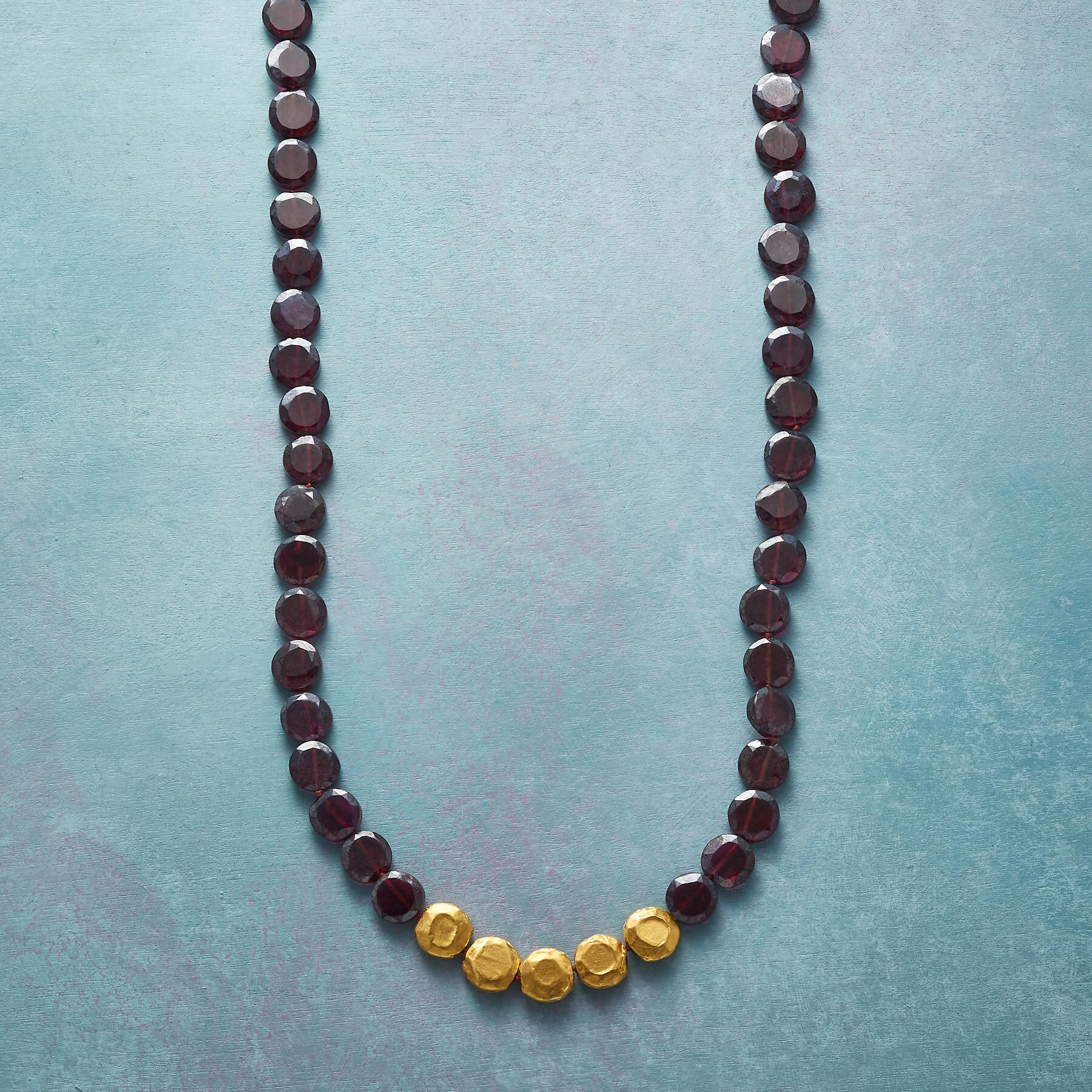 ENWRAPPED GARNET NECKLACE: View 1