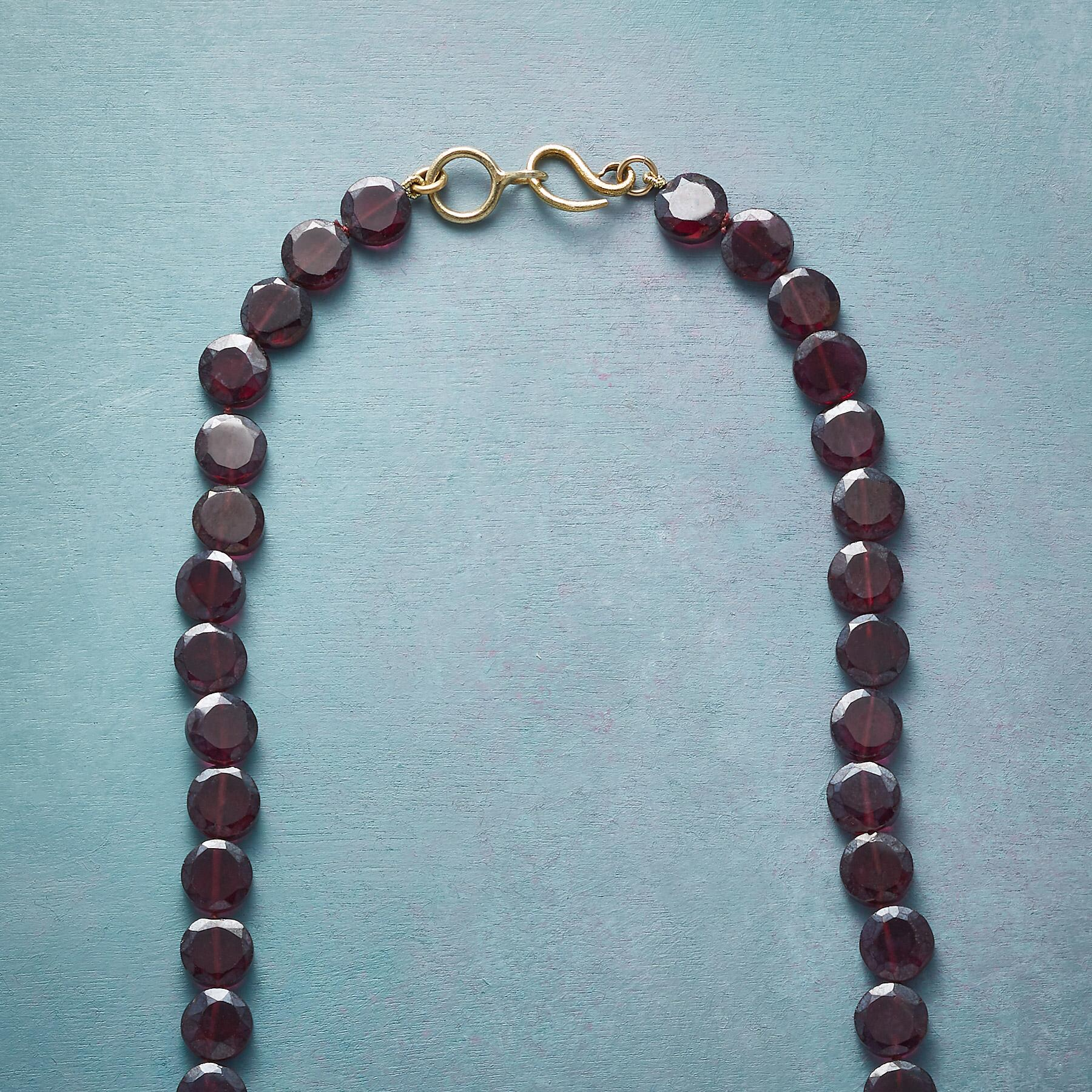 ENWRAPPED GARNET NECKLACE: View 3
