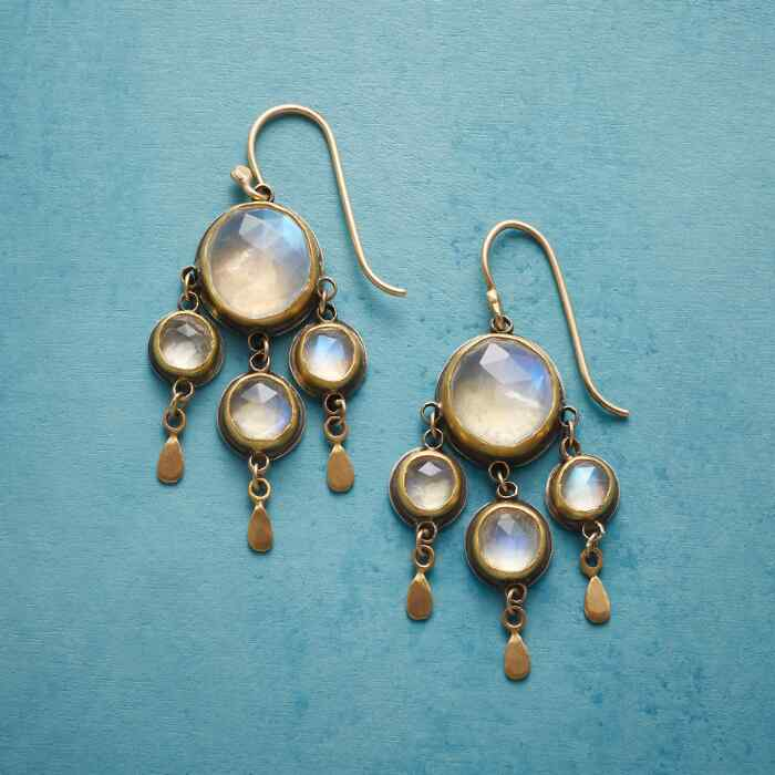 MOONLIT CHANDELIER EARRINGS