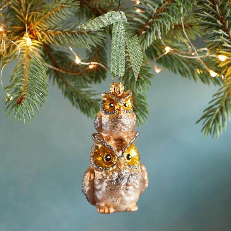 OWL FAMILY ORNAMENT
