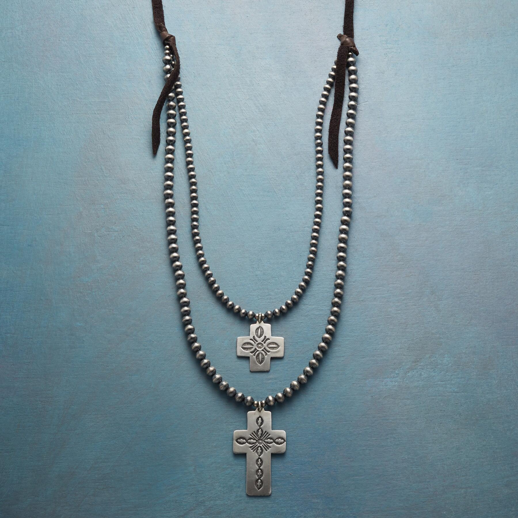 NAVAJO CROSS NECKLACE: View 1