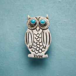 TIMELESS COMPANION WISE OWL PIN