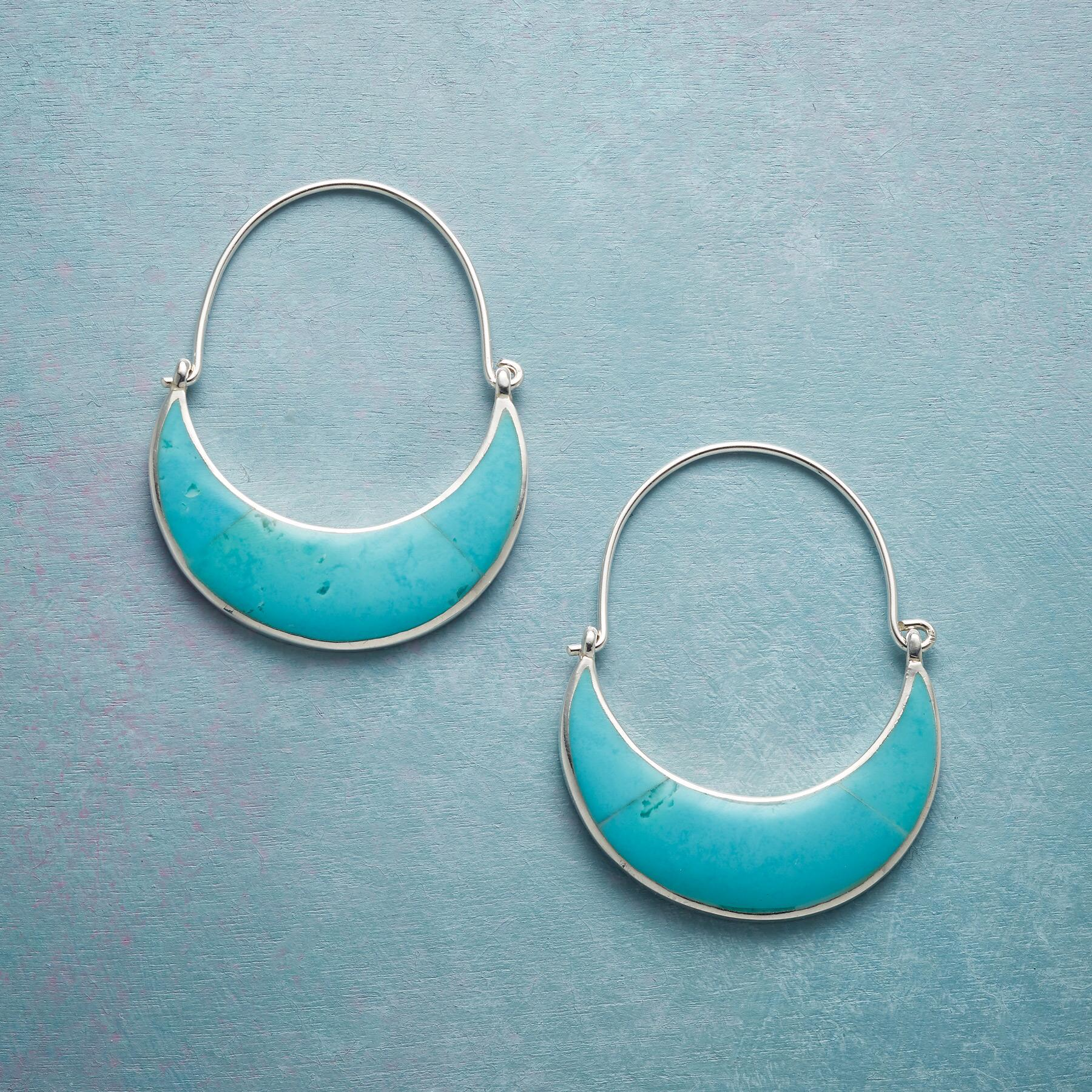 TURQUOISE MOON EARRINGS: View 1