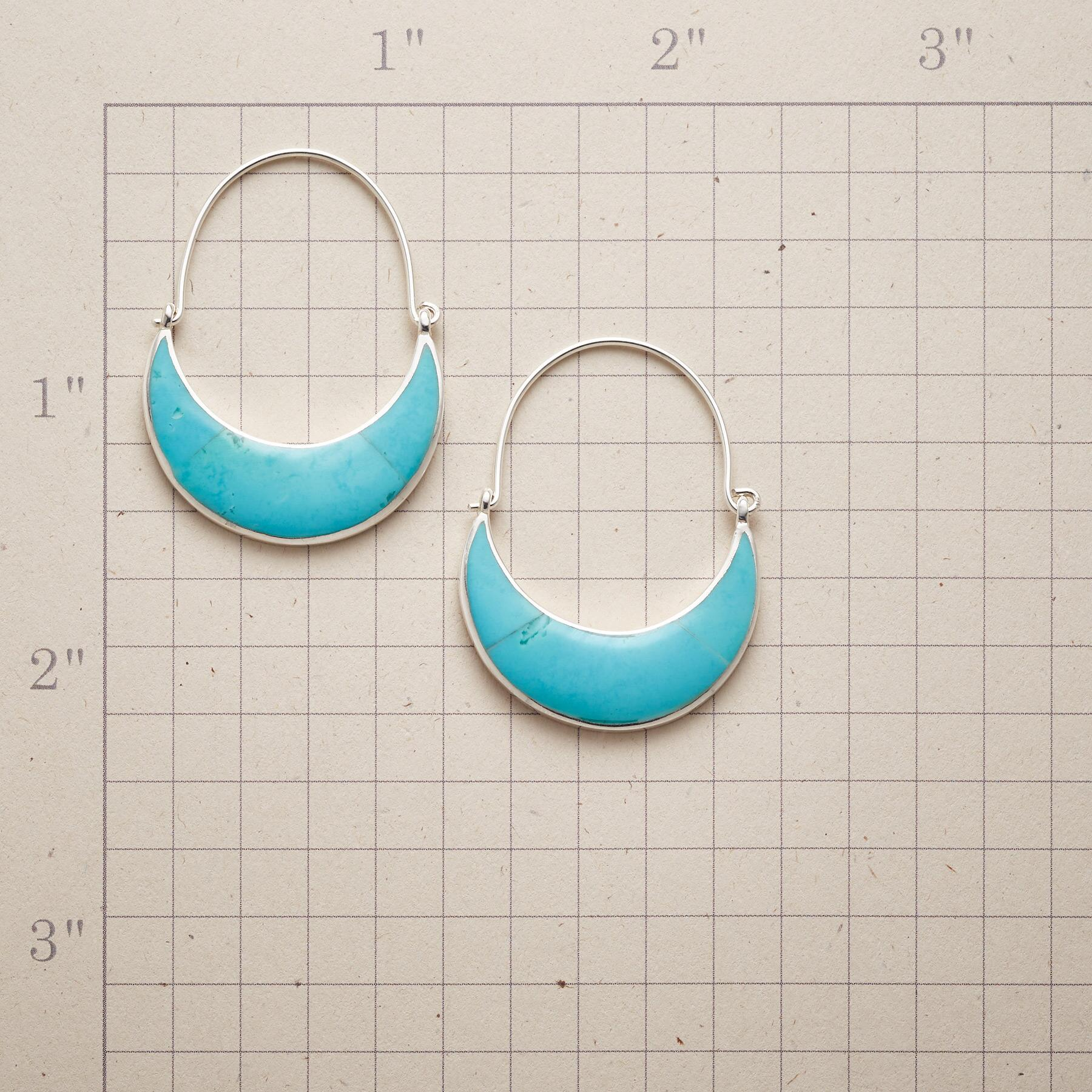 TURQUOISE MOON EARRINGS: View 2