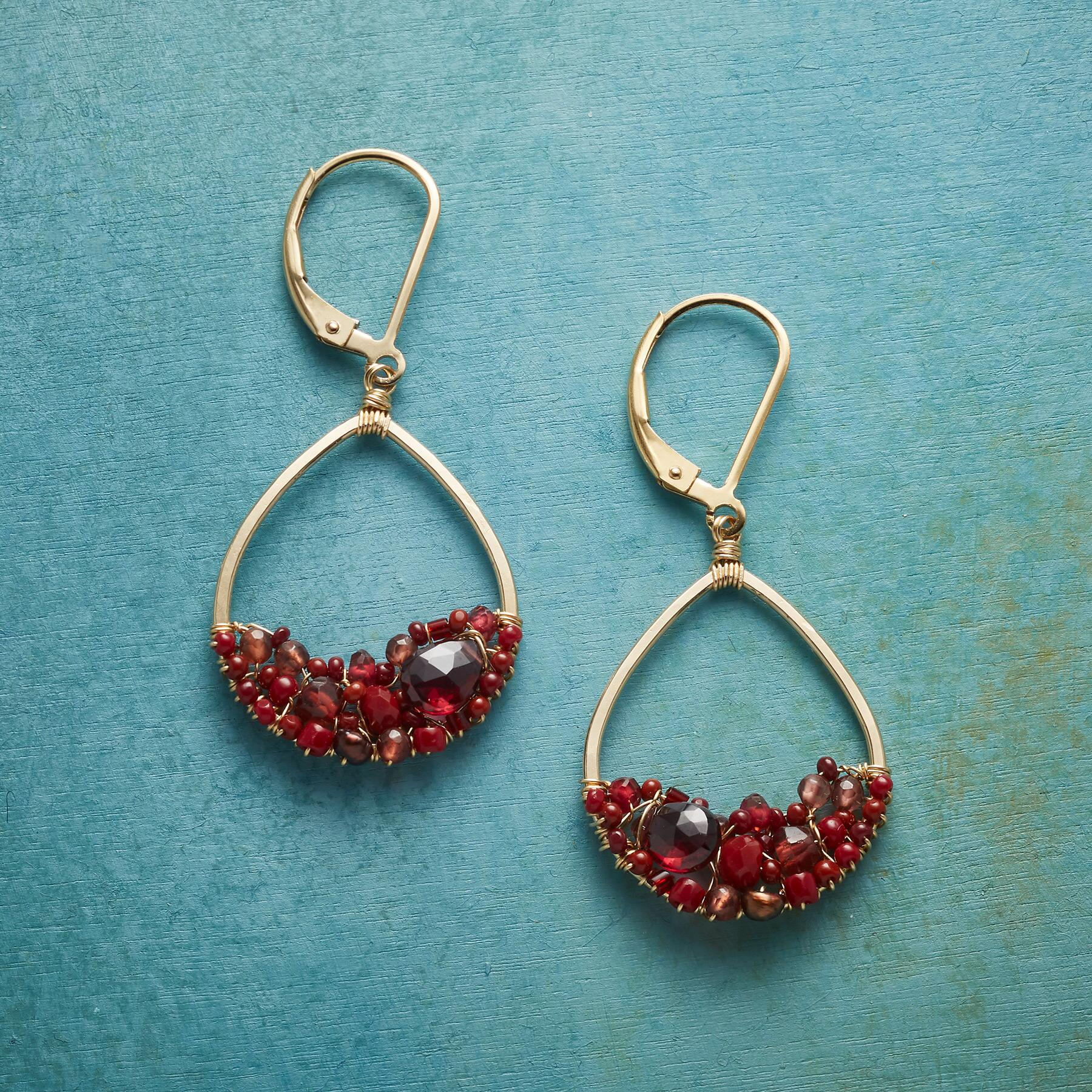 CRIMSON MIX EARRINGS: View 1
