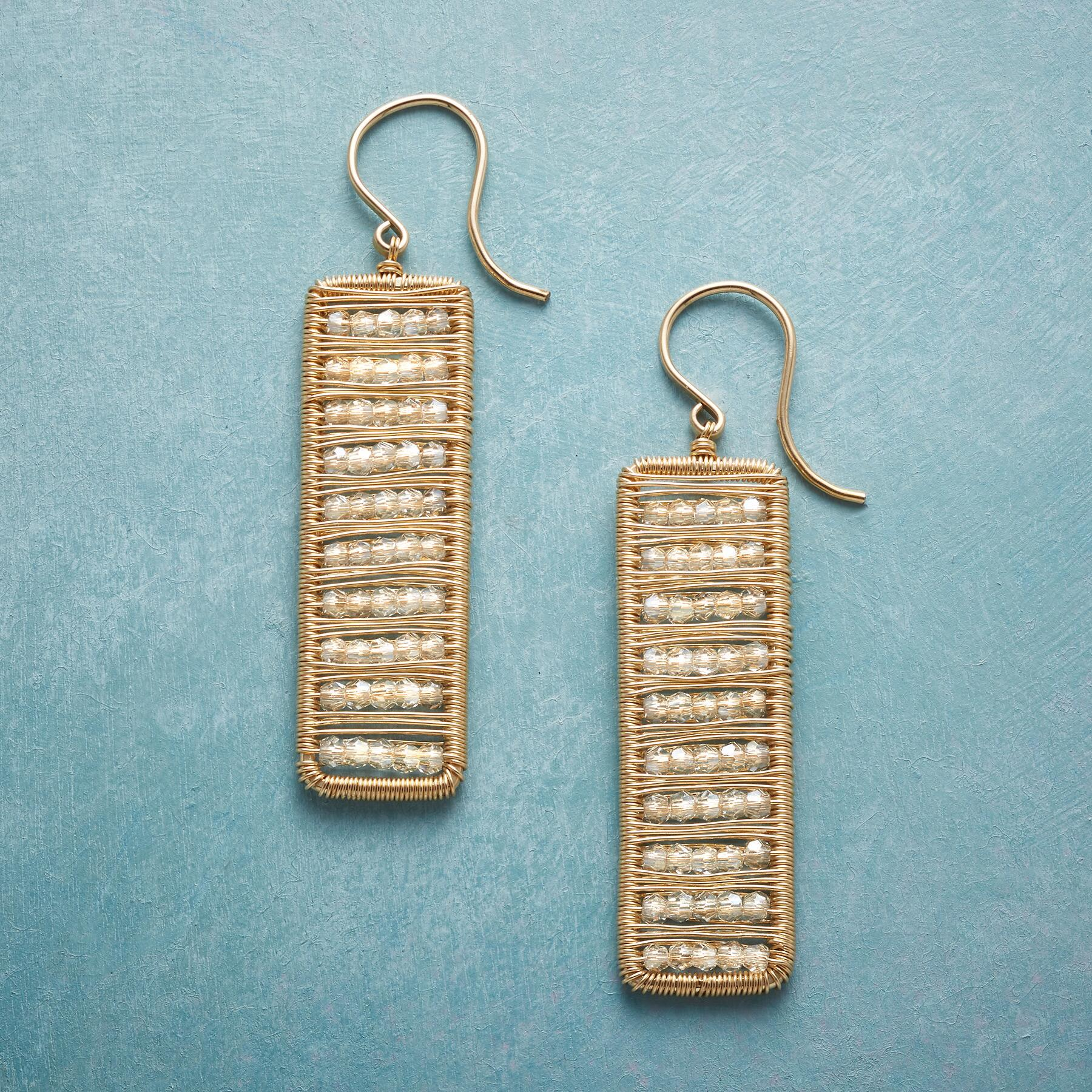 CRYSTAL ABACUS EARRINGS: View 1
