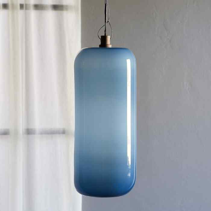 SALON GLASS OPAQUE CYLINDER PENDANT