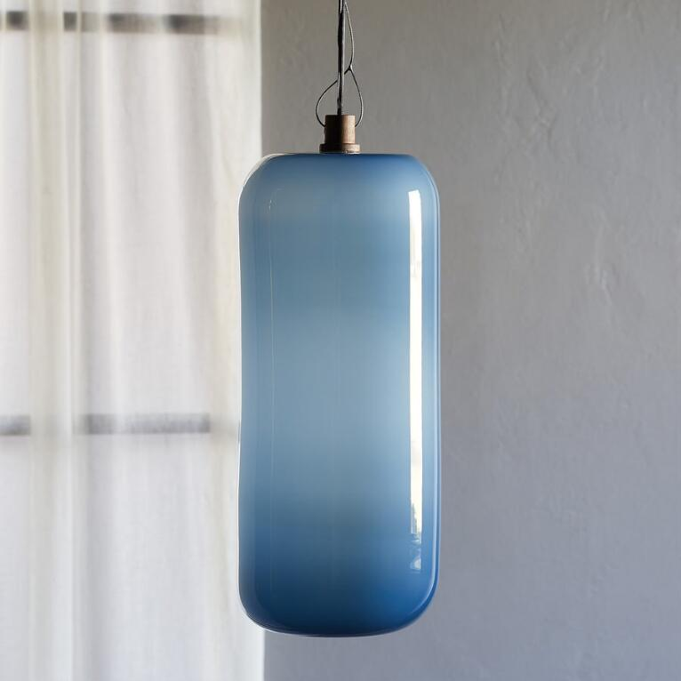 SALON GLASS OPAQUE CYLINDER PENDANT