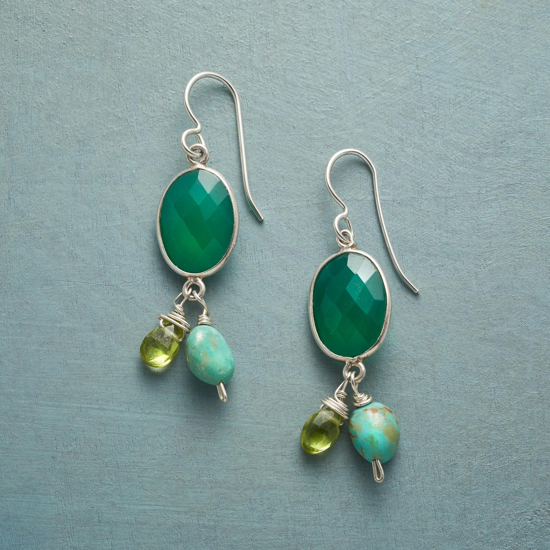 SHADES OF GREEN EARRINGS: View 1