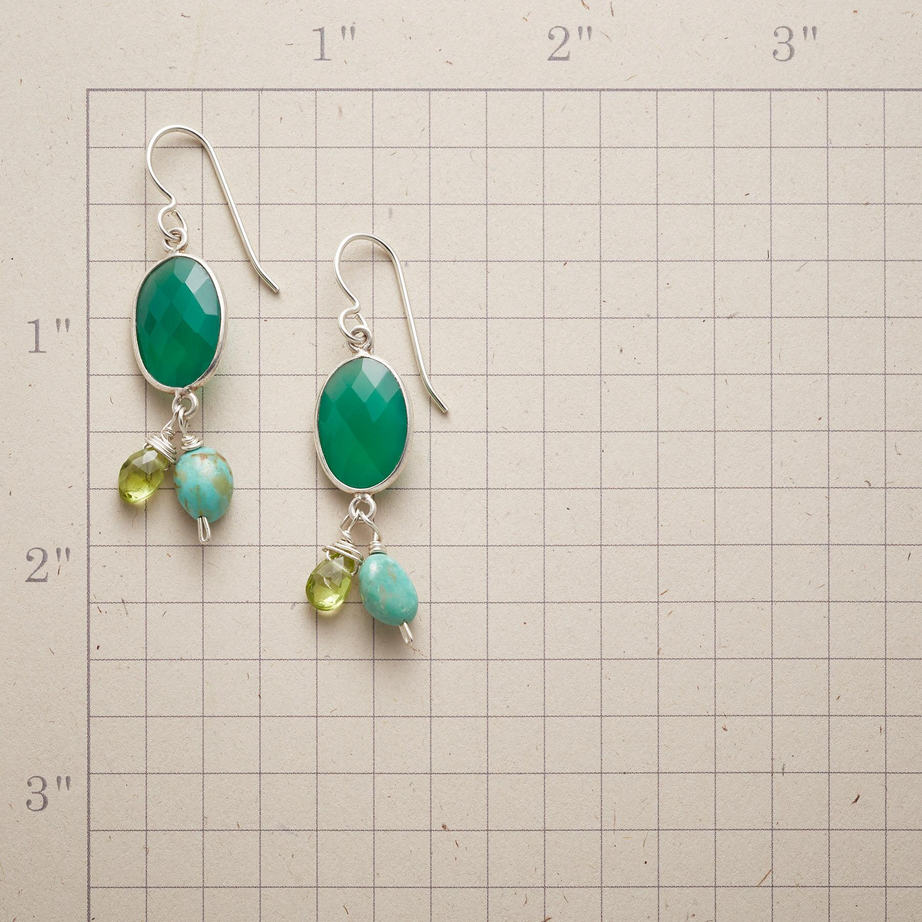 SHADES OF GREEN EARRINGS: View 2