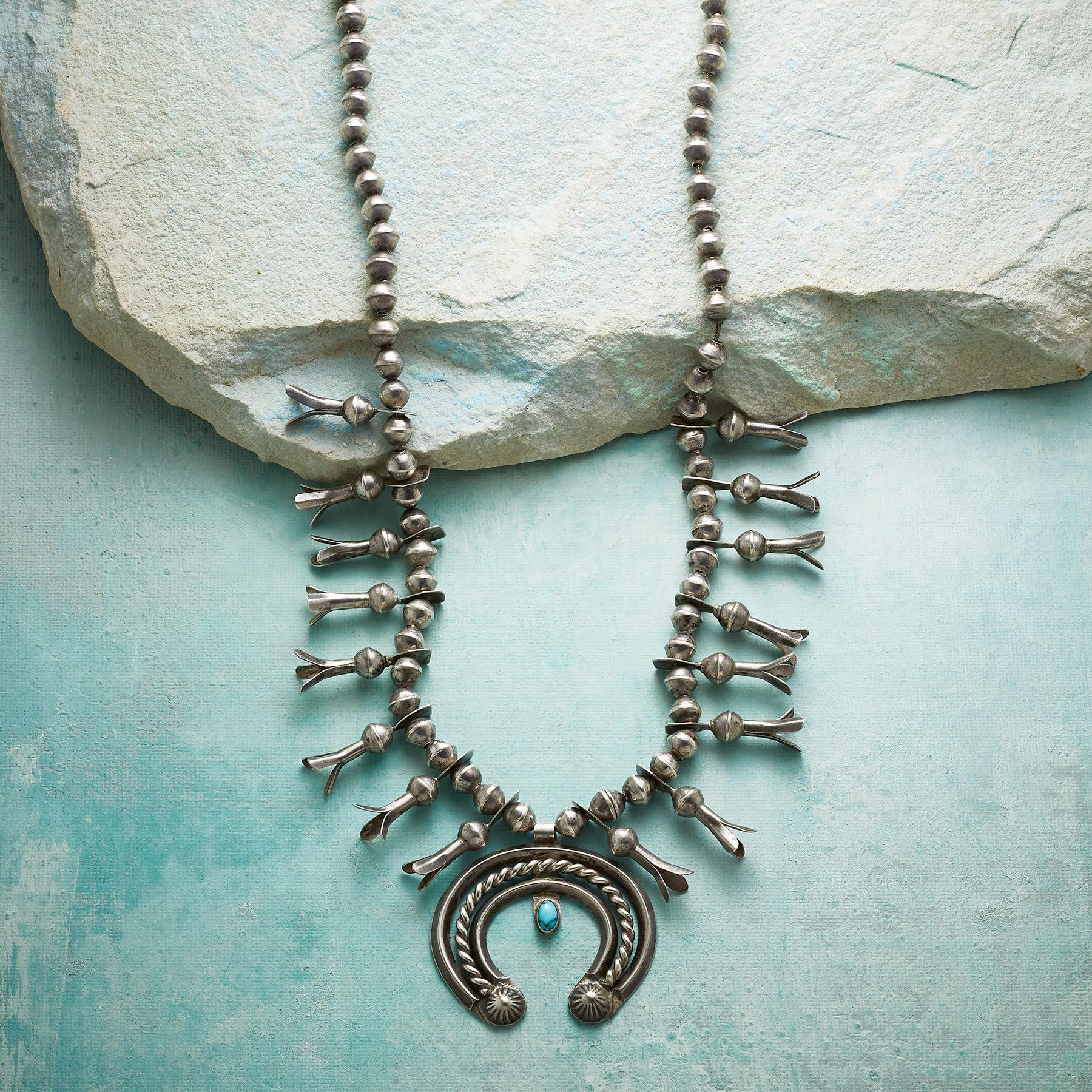 Navajo Squash Blossom Necklace: View 1