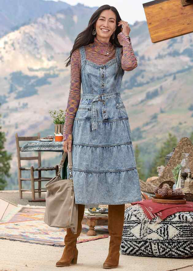 BRIDGETTE DENIM DRESS