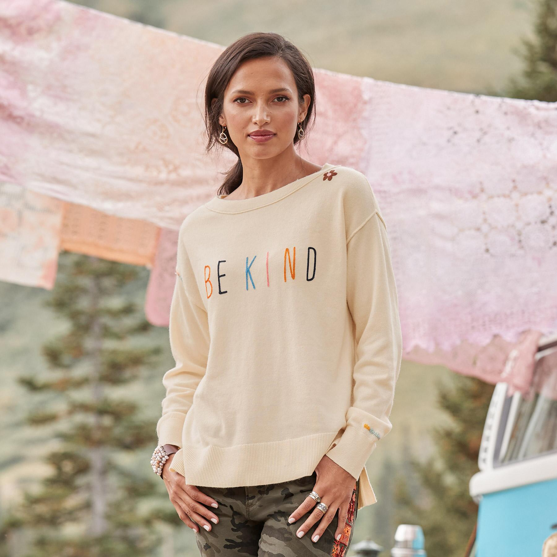 BE KIND SWEATER: View 1