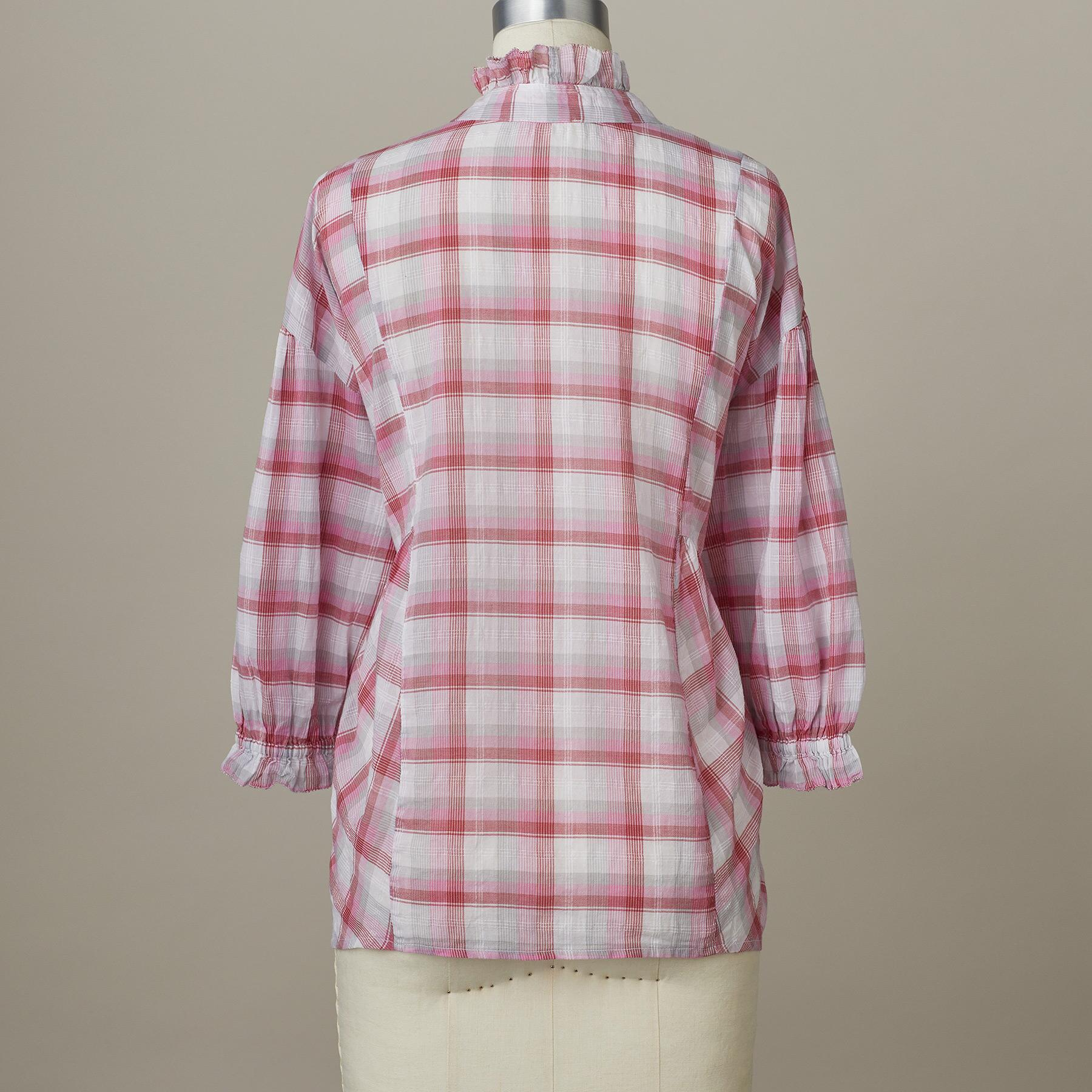 JANIS PLAID TOP: View 3