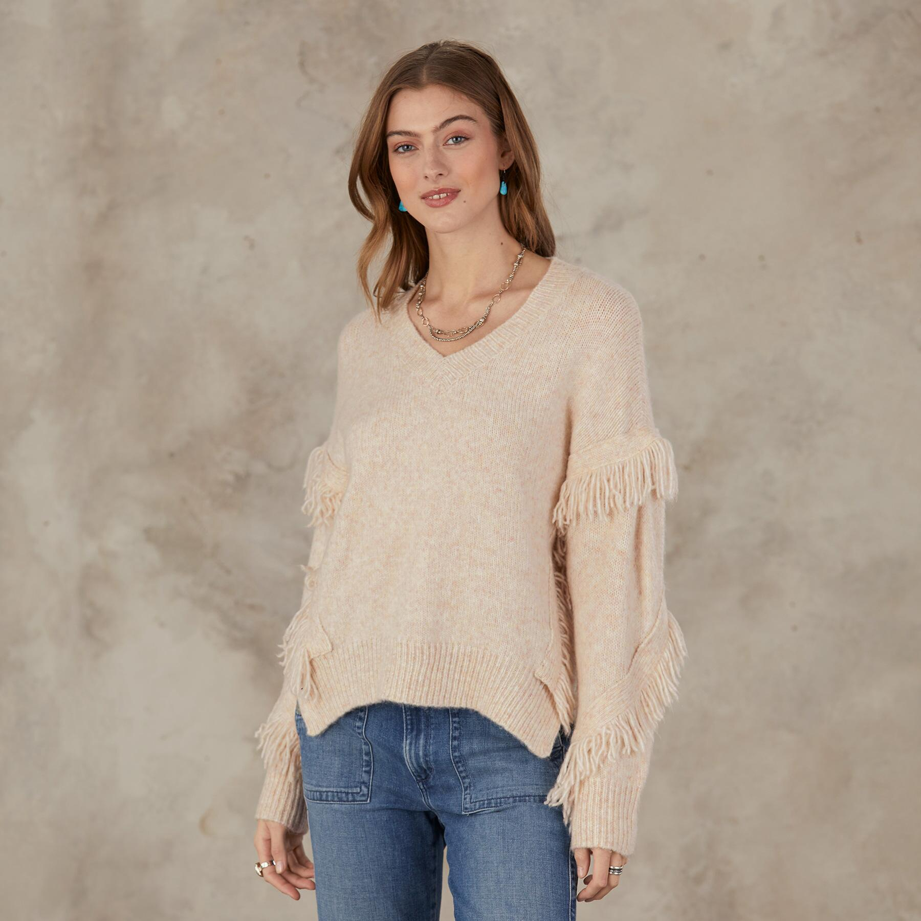 GO WEST V-NECK SWEATER: View 1